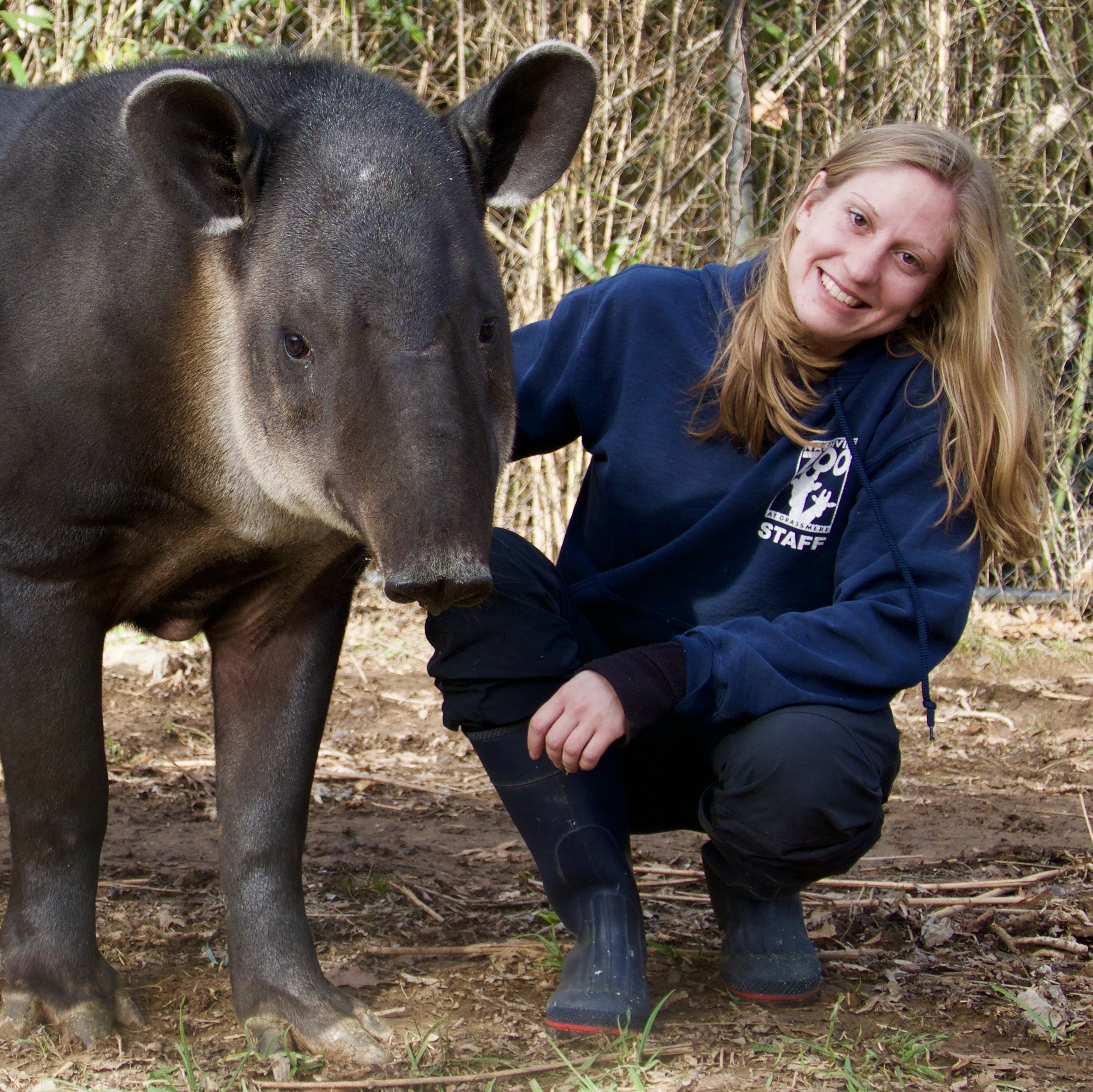 Alyssa with a tapir